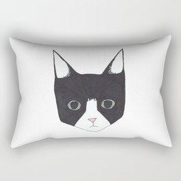 Henry the Tuxedo Cat Rectangular Pillow