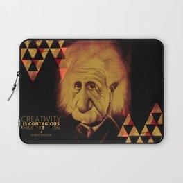 Albert Einstein- Creativity is Contagious Laptop Sleeve