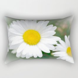 Daisies flowers in painting style 1 Rectangular Pillow