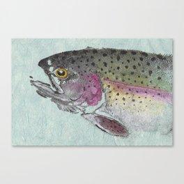 Rainbow Trout - Gyotaku Canvas Print