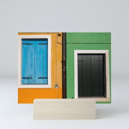 Burano Windows Mini Art Print