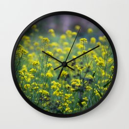 Yellow flowers of the Volcán Irazú Wall Clock