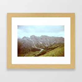 Dolomites Mountains and Valley Framed Art Print
