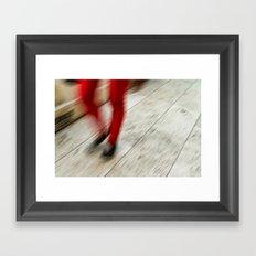 Red Hot Walking Framed Art Print