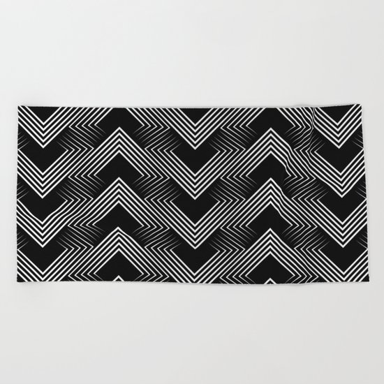 Art Deco . Mountains . Beach Towel