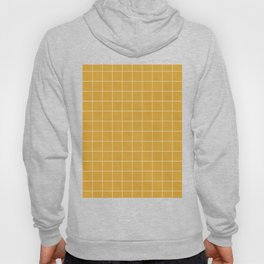 Small Grid Pattern - Mustard Yellow Hoody