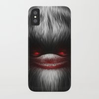 resident evil iPhone & iPod Cases featuring EVIL by Dr. Lukas Brezak