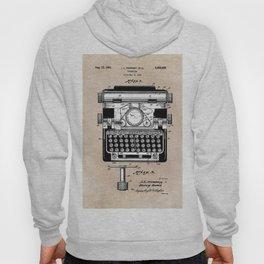 patent art typewriter Hoody