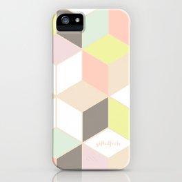 pastel cubes  iPhone Case