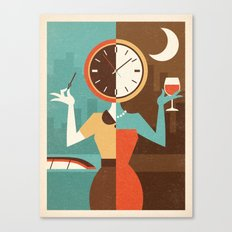 Wine Time Canvas Print