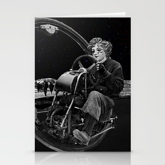 Getaway - Dieselpunk Monowheel Stationery Cards