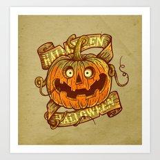 Halloween dark khaki Art Print