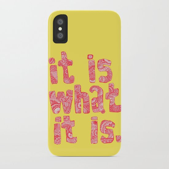 What It Is Yellow iPhone Case