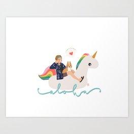 Bon Voyage Taehyung Art Print