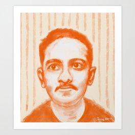 Portrait of Jibananda Das Art Print