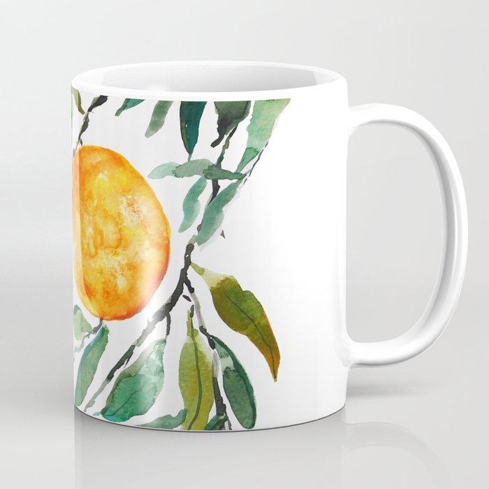 orange watercolor Coffee Mug