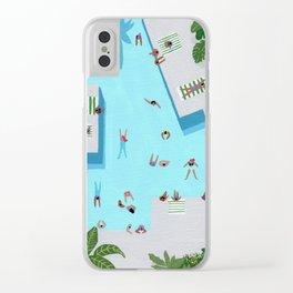 Crisp cut swim Clear iPhone Case