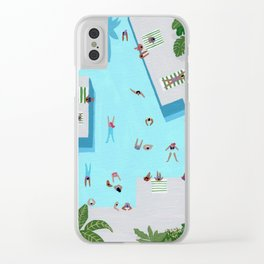 Crisp cut swim Clear iPhone Case