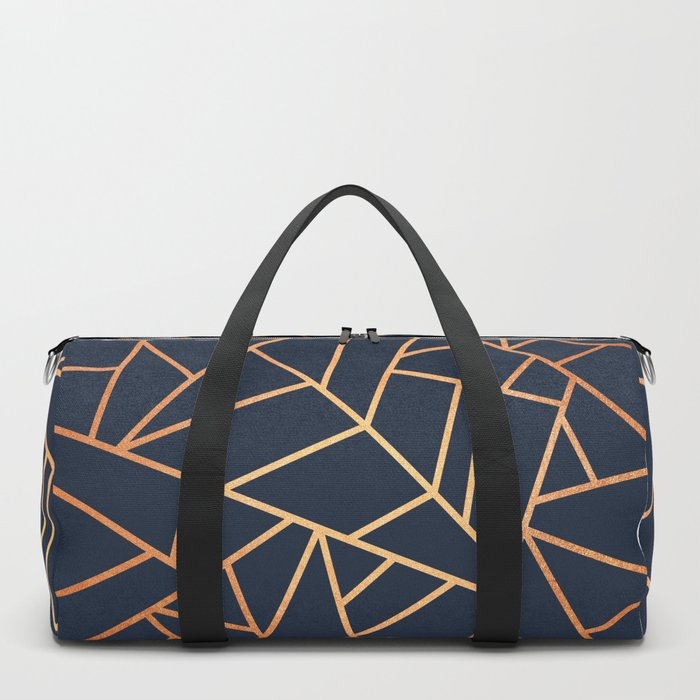 Copper and Midnight Navy Duffle Bag