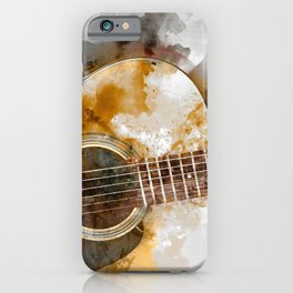Blurred Guitar Ultra HD iPhone Case