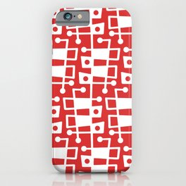 Mid Century Modern Abstract 213 Red iPhone Case
