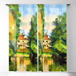 Paul Cezanne Country House by a River Blackout Curtain