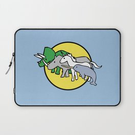Horned Warrior Friends (unicorn, narwhal, triceratops, rhino) Laptop Sleeve