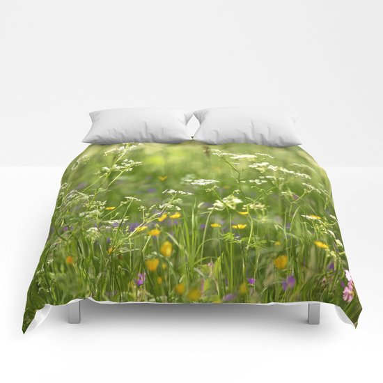 Green Summer Meadow  Comforters