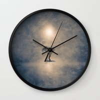 shining Wall Clocks featuring shining by Viviana Gonzalez