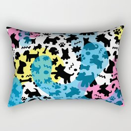 Crazy Dogs Pattern Rectangular Pillow