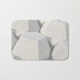 Pattern of concret hexagonal elements Bath Mat