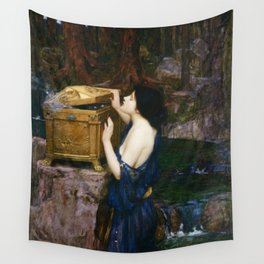 PANDORAS BOX - JOHN WILLIAM WATERHOUSE  Wall Tapestry