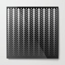 Geometric Peaks Metal Print
