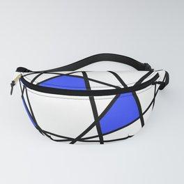 Geometric Modern triangles - white blue Fanny Pack