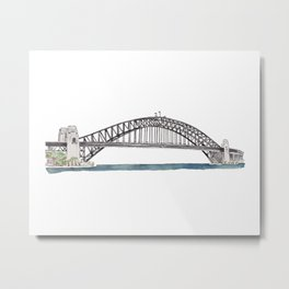 Harbour Bridge Metal Print