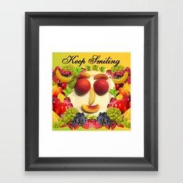 Keep Smiling! Framed Art Print