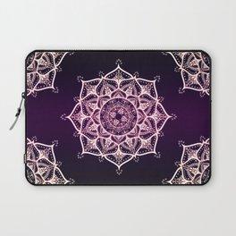 Violet Glowing Spirit Mandala Laptop Sleeve