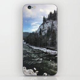 Snowy banks iPhone Skin