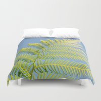 fern Duvet Covers featuring Fern by Pati Designs