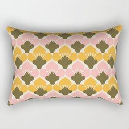 Yellow & Pink Flower Pattern Rectangular Pillow
