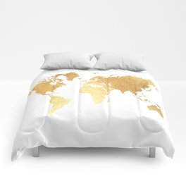 Textured Gold Map Comforters