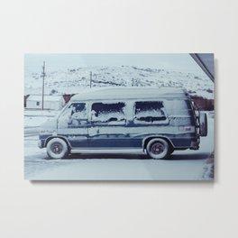 Snowy Van - Sheridan, WY Metal Print