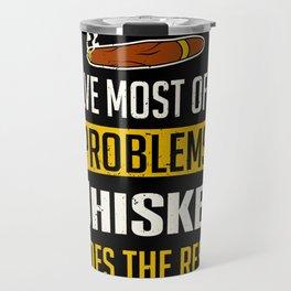 Smoker Tobacconist Funny Smoking Cigars Whiskey Drinking Travel Mug