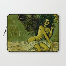 Vintage Parisian Green Fairy Absinthe Alcoholic Aperitif Advertisement Poster Laptop Sleeve