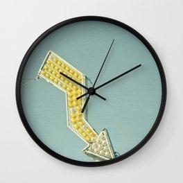 Golden Arrow Wall Clock