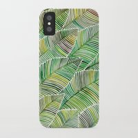 tropical iPhone & iPod Cases featuring Tropical Green by Cat Coquillette