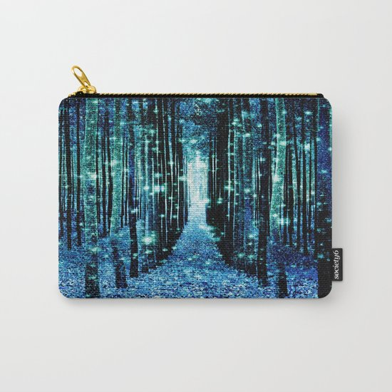 Magical Forest Teal Turquoise Carry-All Pouch