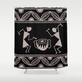 Warli Art Shower Curtain