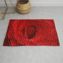 A Floral Study in Red Rug