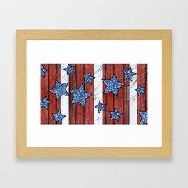 Star Spangled Stripes Framed Art Print